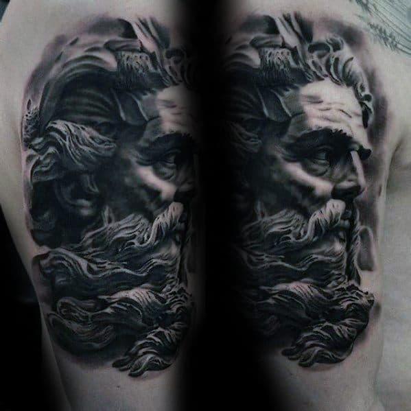 Male Roman Statue Tattoo Ideas On Arm