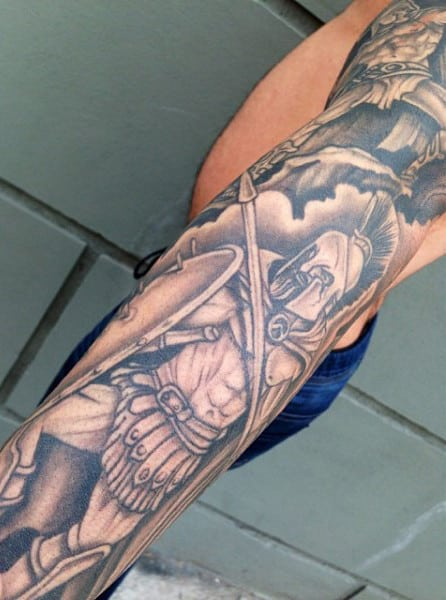 Male Rome Gladiator Tattoo