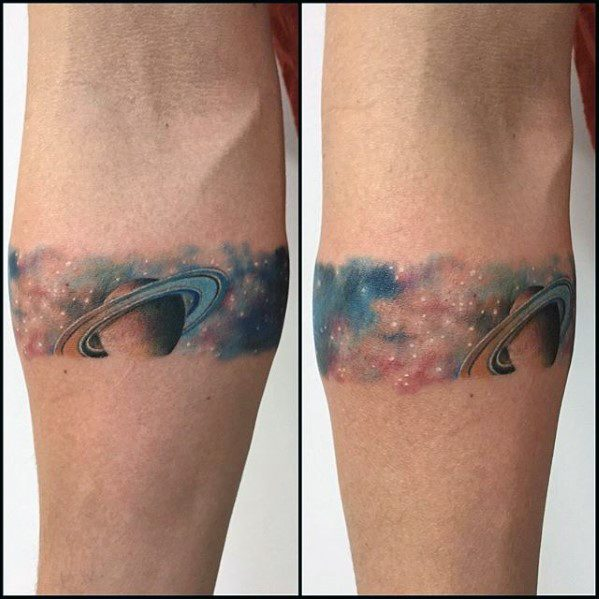 Male Saturn Tattoo Design Inspiration