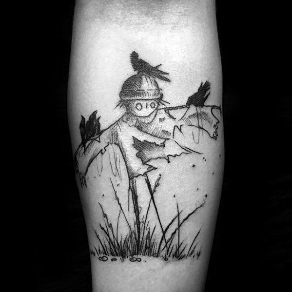 Male Scarecrow Tattoo Ideas