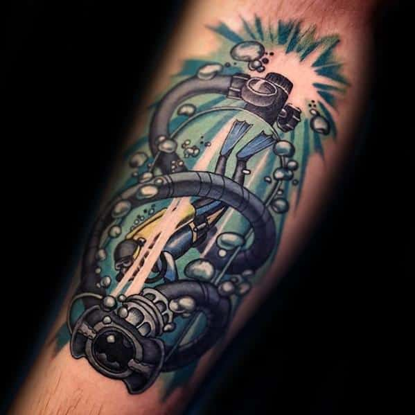 40 scuba diving tattoo designs for men diver ink ideas rh nextluxury com scuba diving tattoos pictures scuba diving tattoos