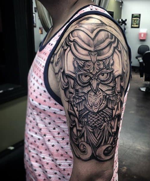 Male Shield Armor Tattoo