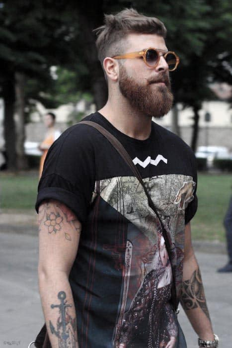 Male Short Hair Hispter Beard Styles