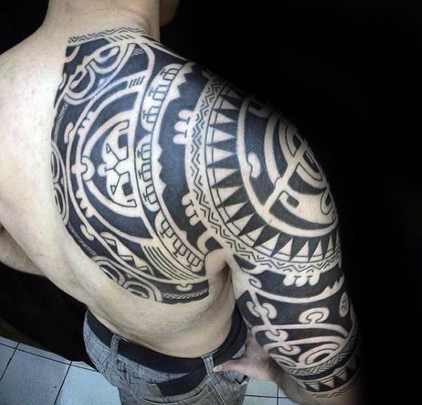 Male Shoulder Shoulder Tattoo