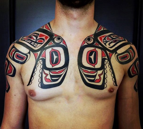 Male Shoulders Haida Pair Tattoo