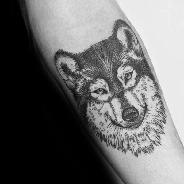 Male Siberian Husky Themed Tattoo Inspiration