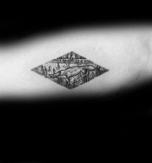 Male Small Simple Inner Arm Platypus Tattoo Ideas