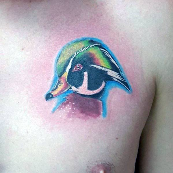 30 Wood Duck Tattoo Designs For Men Carolina Ink Ideas