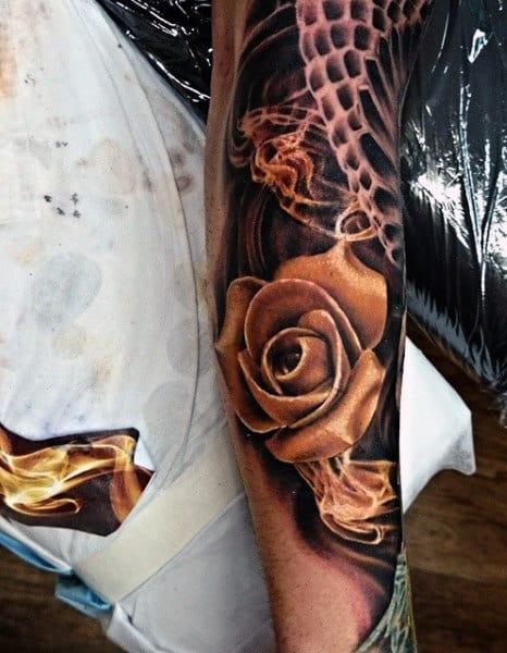 50 smoke tattoos for men manly matter to spirit designs. Black Bedroom Furniture Sets. Home Design Ideas