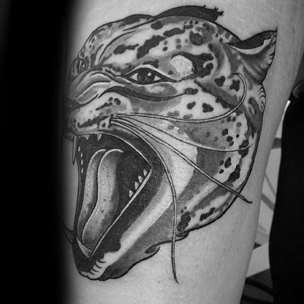 Male Snow Leopard Tattoo Design Inspiration