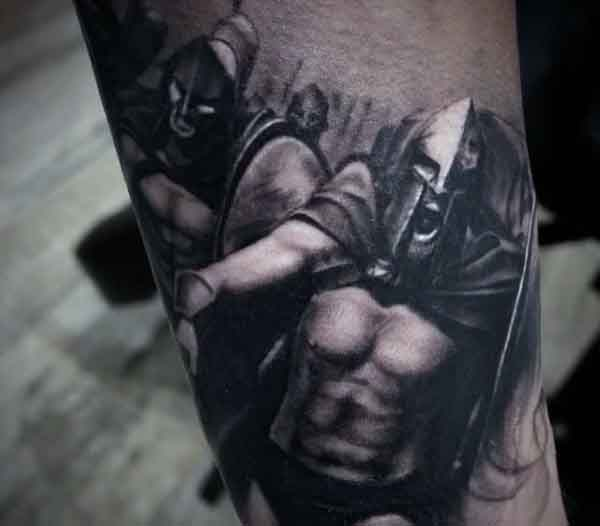 Male Spartan Tattoo Inspiration