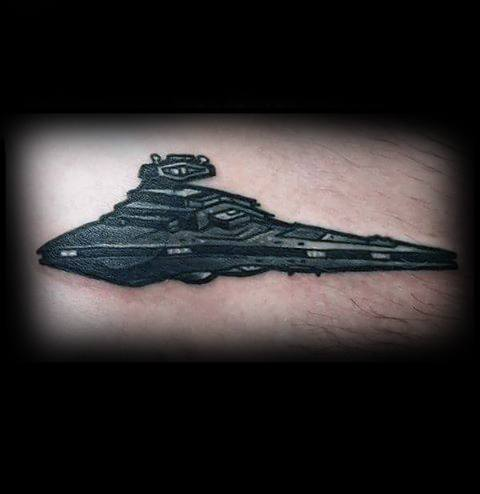 20 Star Destroyer Tattoo Designs For Men Star Wars Ink Ideas