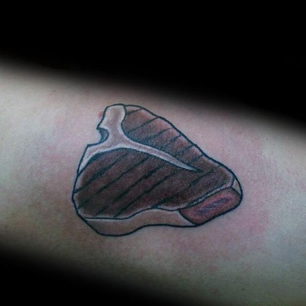 Male Steak Themed Tattoos