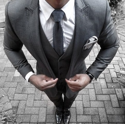 Male Style Grey Suits With Peak Lapels