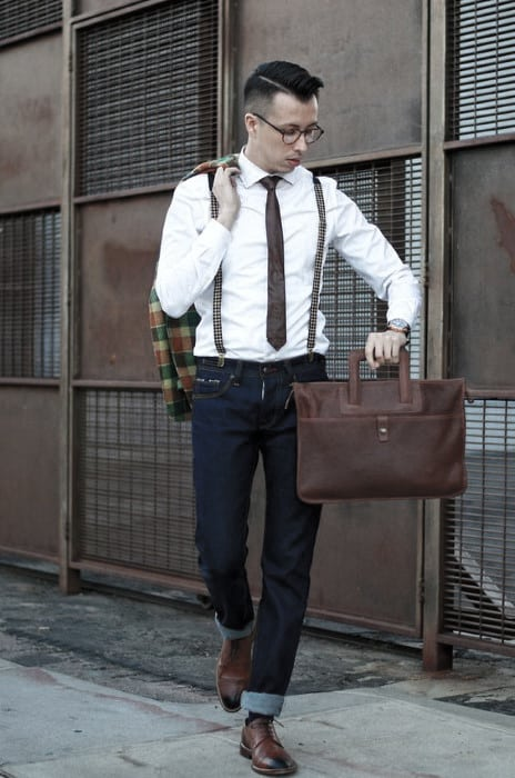 Male Style How To Wear Suspenders With Jeans Outfits