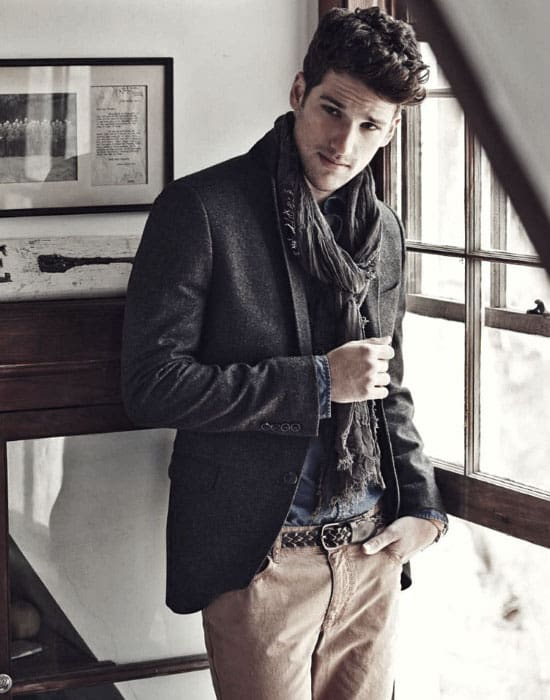 Male Style What To Wear With Khaki Pants Outfits Scarf