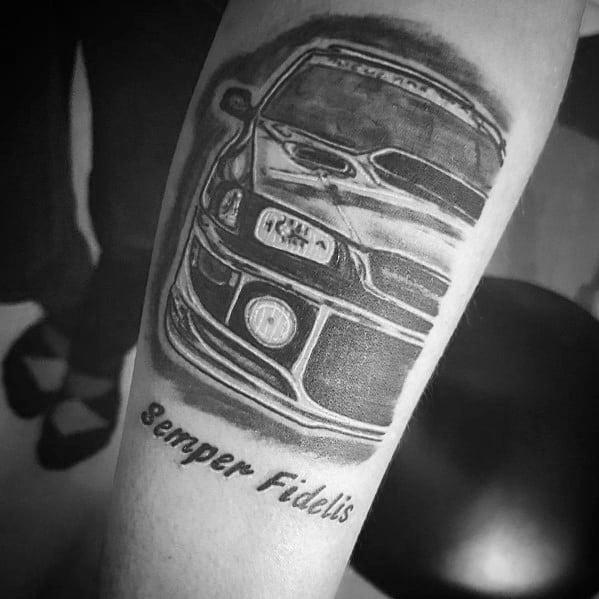 Male Subaru Themed Tattoo Inspiration
