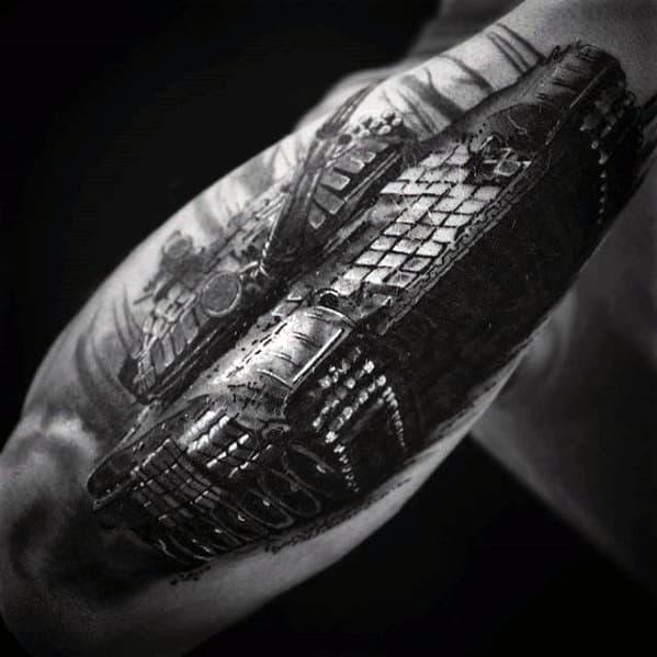 Male Tank Tattoo Design Inspiration