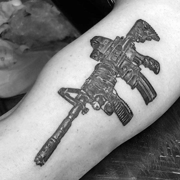 Male Tattoo Ideas Ar 15 Themed