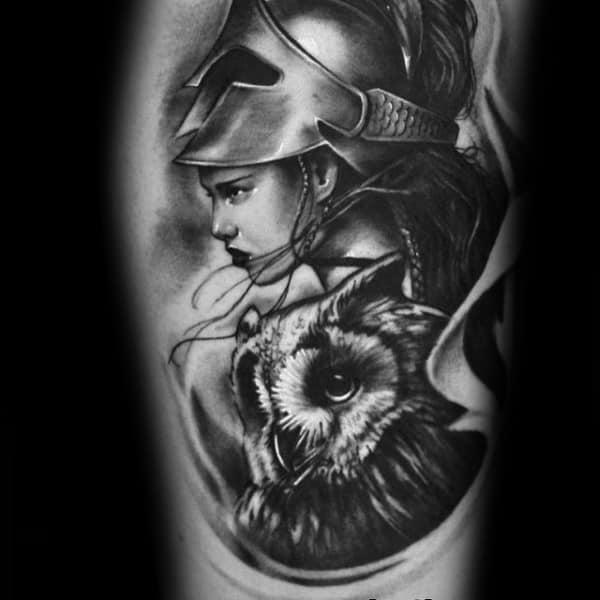 Male Tattoo Ideas Athena Themed