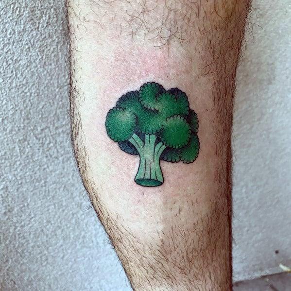 Male Tattoo Ideas Broccoli Themed