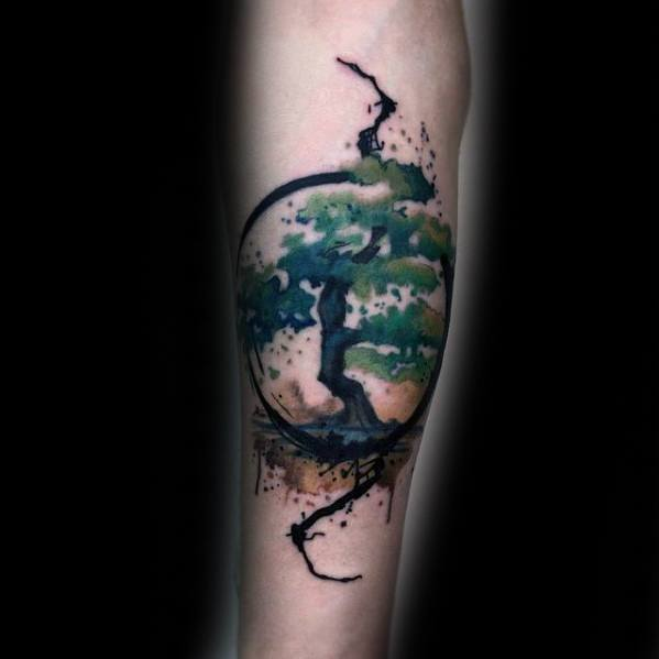 Male Tattoo Ideas Cool Tree Themed