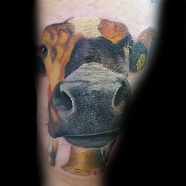 Male Tattoo Ideas Cow Themed