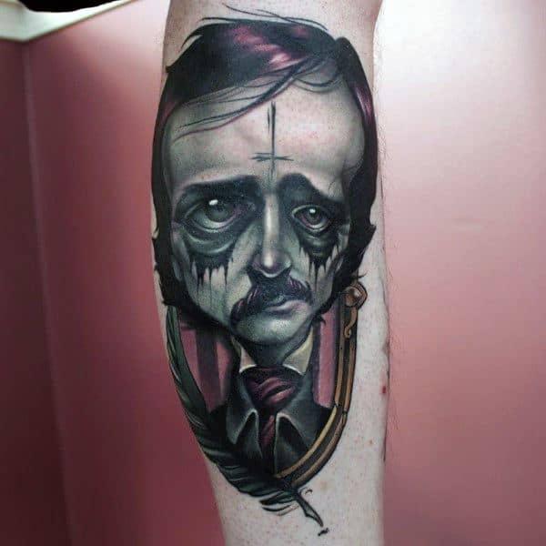 Male Tattoo Ideas Edgar Allan Poe Themed