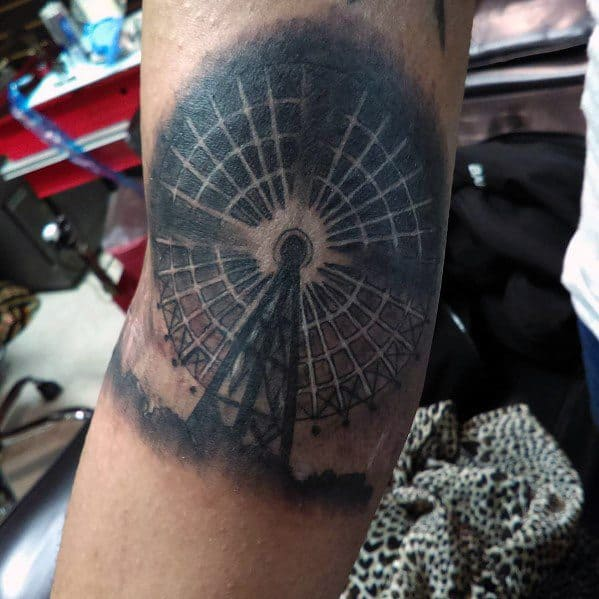 Male Tattoo Ideas Ferris Wheel Themed