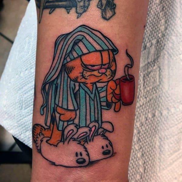 Male Tattoo Ideas Garfield Themed