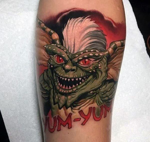 Male Tattoo Ideas Gremlin Themed