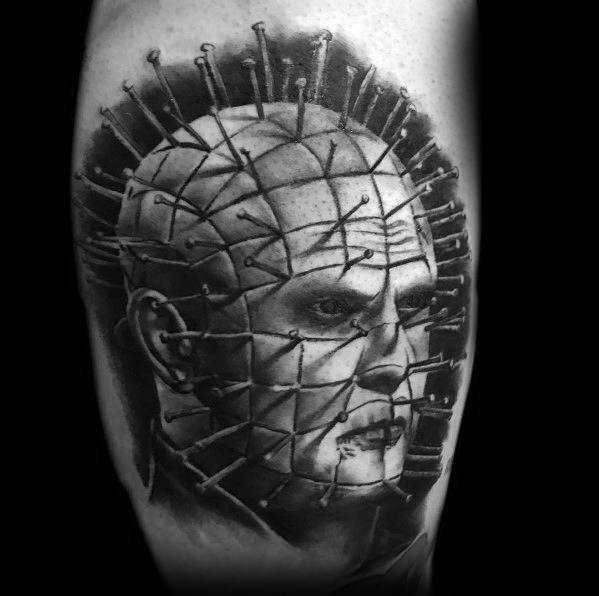 Male Tattoo Ideas Hellraiser Themed