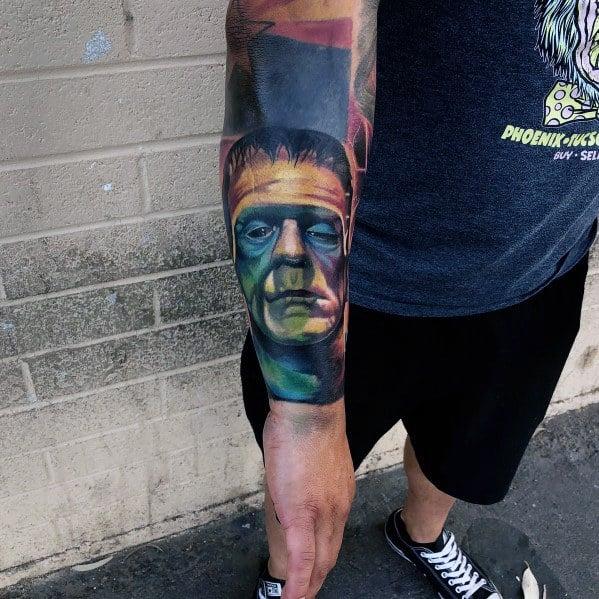 Male Tattoo Ideas Horror Movie Themed