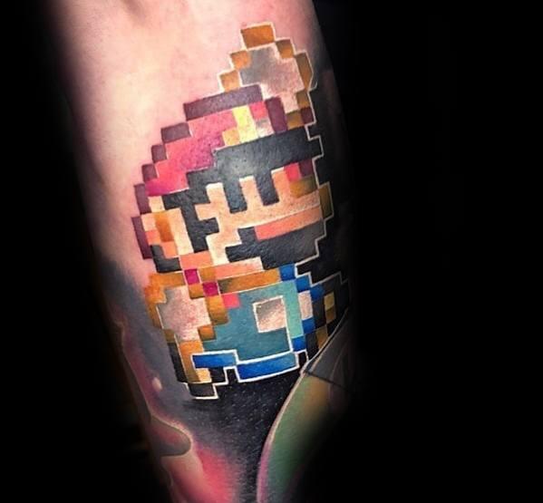 Male Tattoo Ideas Mario Themed