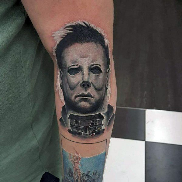 Male Tattoo Ideas Michael Myers Themed
