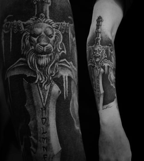 Male Tattoo Ideas World Of Warcraft Themed