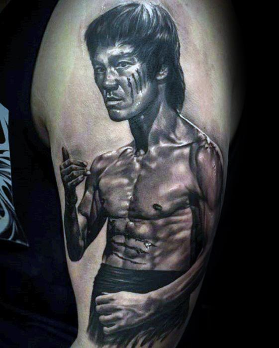 60 Bruce Lee Tattoo Designs For Men – Martial Arts Ideas