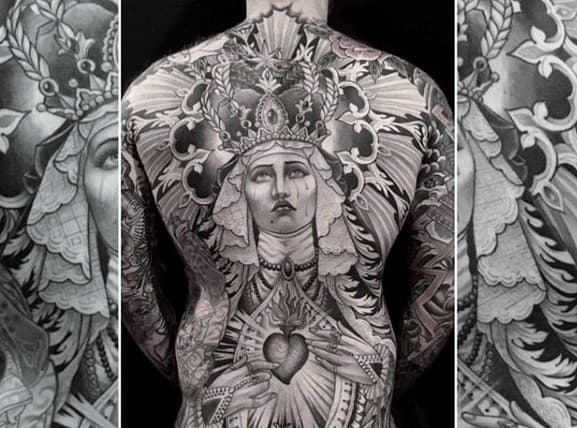 Male Tattoo With Awesome Back Design