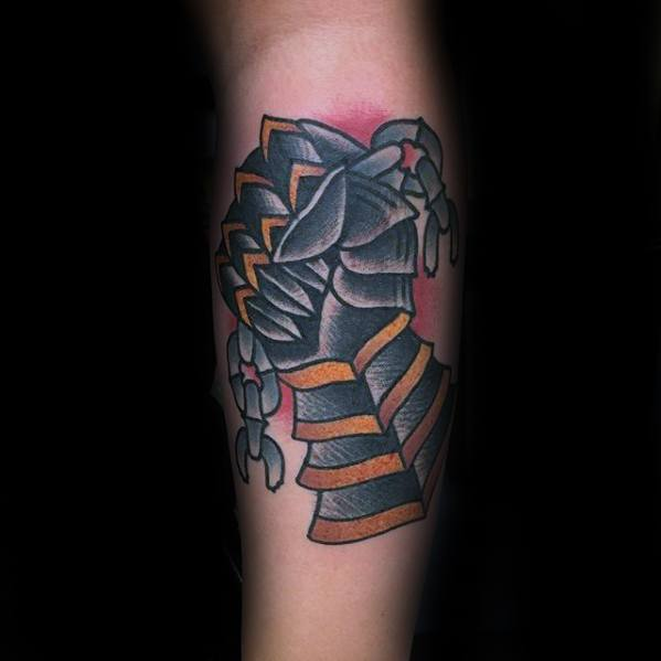 Male Tattoo With Gauntlet Design