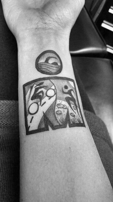 Male Tattoo With Ironman Design