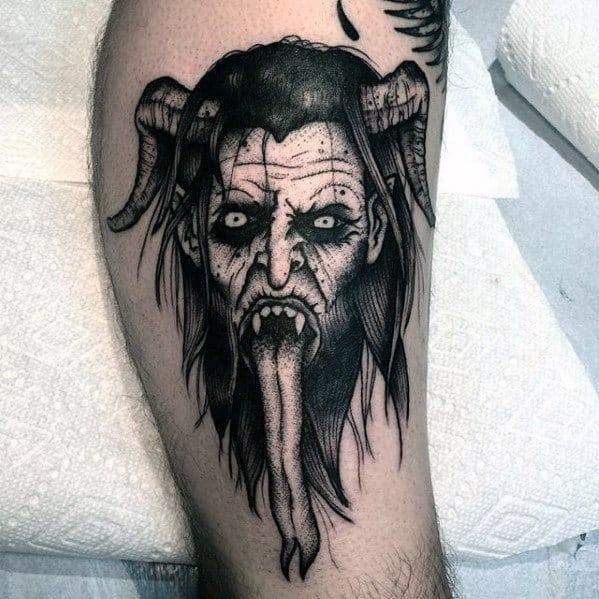 Male Tattoo With Krampus Design