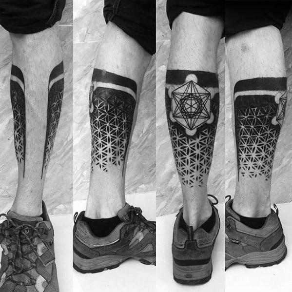 Male Tattoo With Metatrons Cube Design
