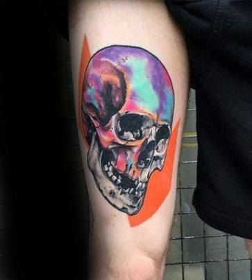 Male Tattoo With Trippy Design