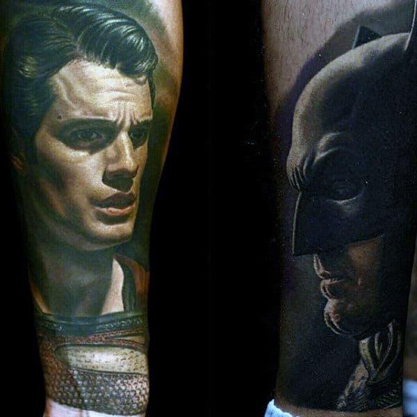 Male Tattoos Of Batman