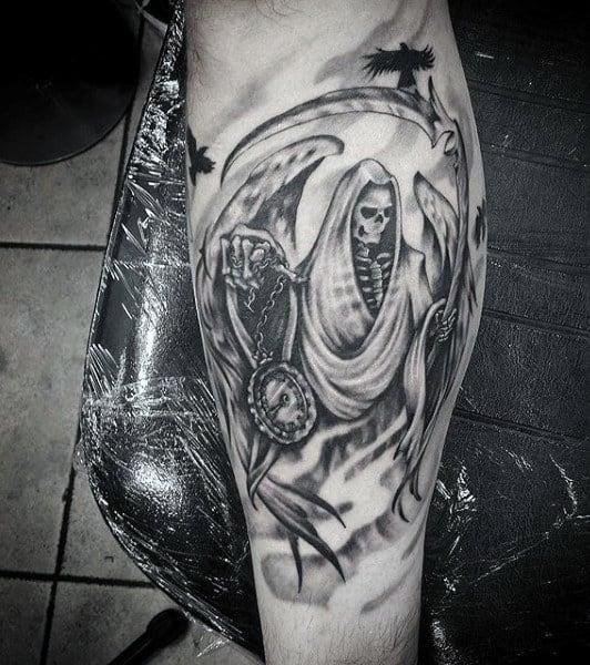 Male Tattoos Of Grim Reaper