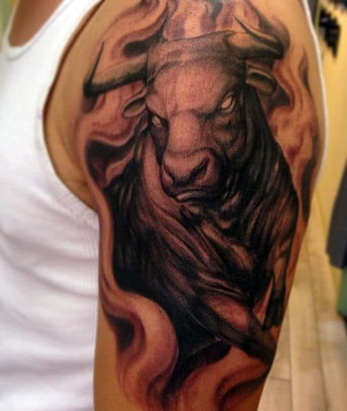 Male Taurus Bull Tattoos