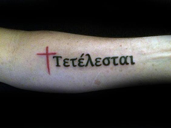 40 tetelestai tattoo designs for men it is finished ink