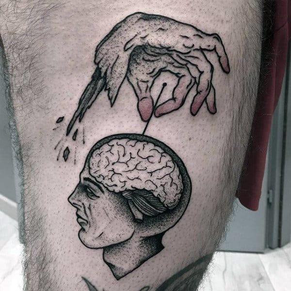 60 Brain Tattoo Designs For Men