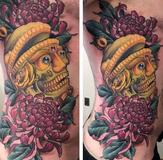 male-tibetan-skull-tattoo-ideas