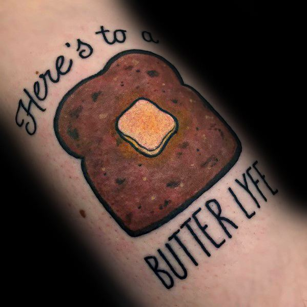 Male Toast Themed Tattoo Inspiration